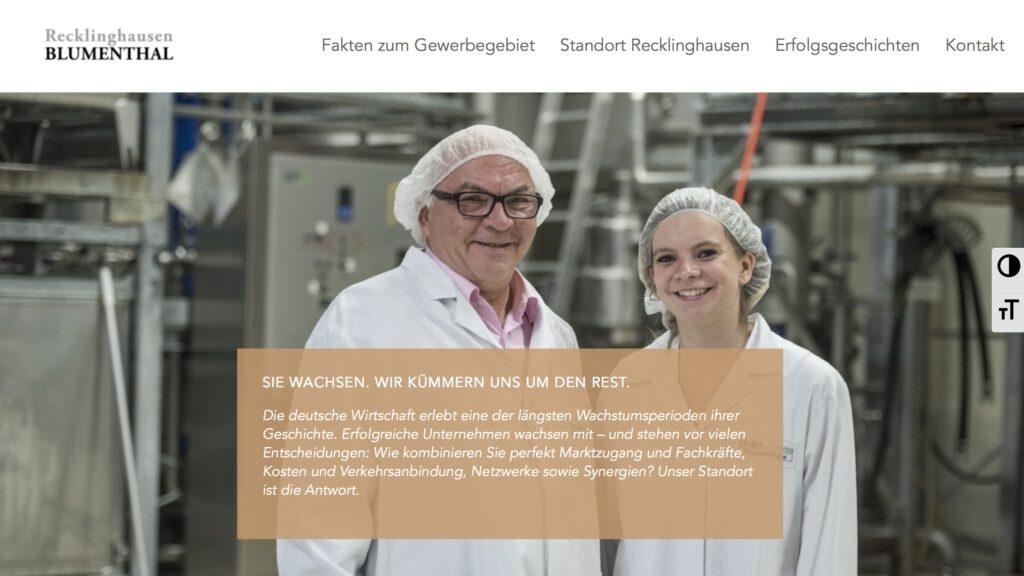 Moduldrei Referenz – Recklinghausen Blumenthal Website Startseite