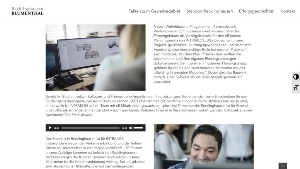 Moduldrei Referenz – Recklinghausen Blumenthal Multimediale Erfolgsgeschichten