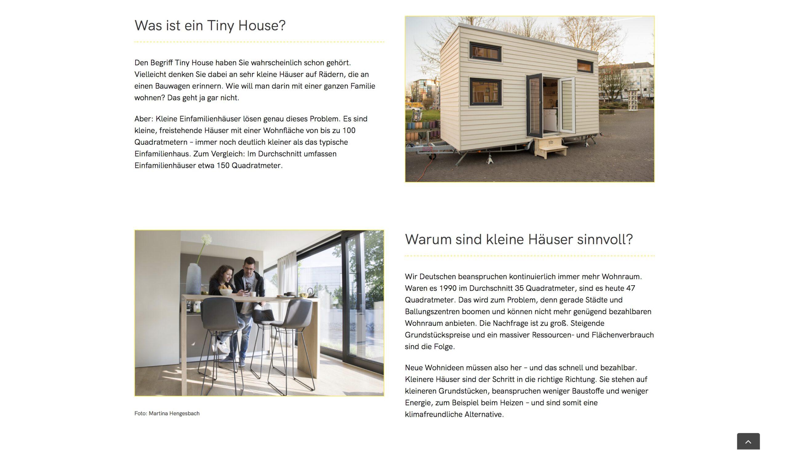 Moduldrei Referenz – Kleine Häuser Dortmund Informationen
