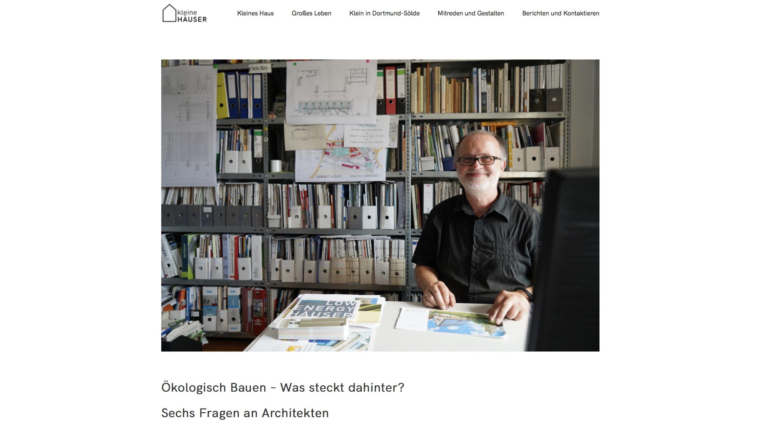 Moduldrei Referenz – Kleine Häuser Dortmund, Architekt Becker