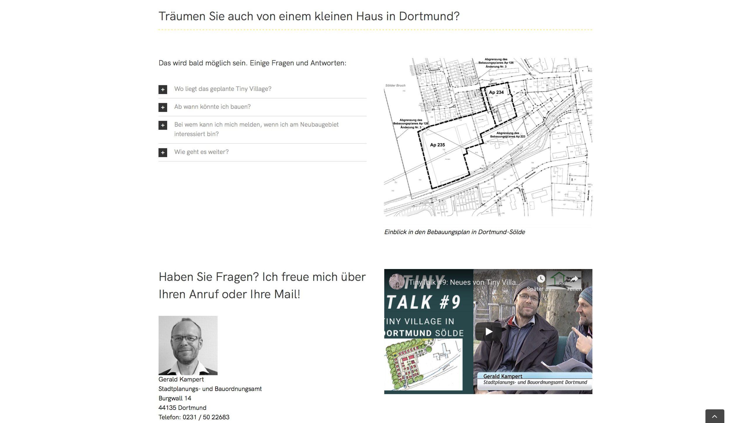 Moduldrei Referenz – Kleine Häuser Dortmund, Bauplanung