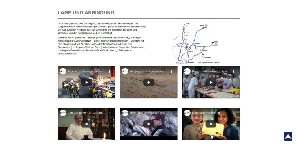 Moduldrei Referenz – GFW Greven, Website-Screenshot