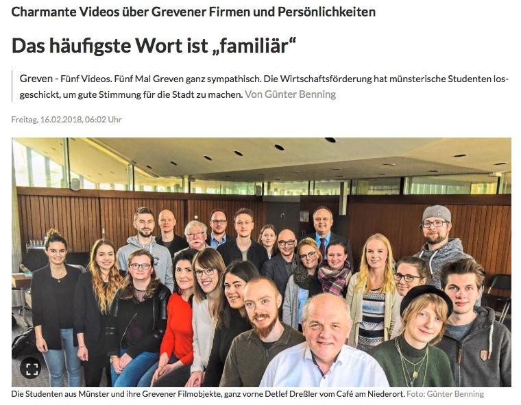 Moduldrei Referenz – GFW Greven, Presse